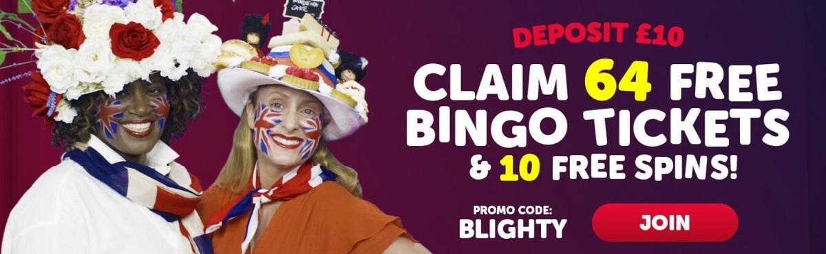 blighty bingo bonus