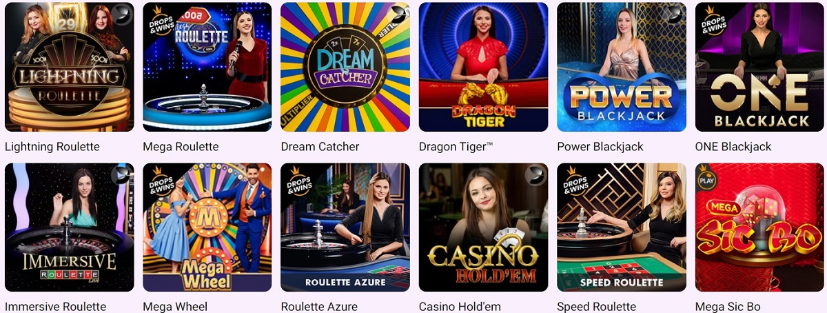 boo casino live casino games