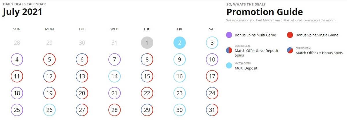 casigo promotion calendar