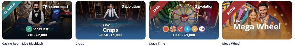 casinoroom live casino games