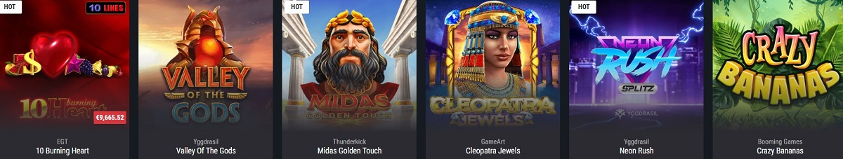 cobra casino slots