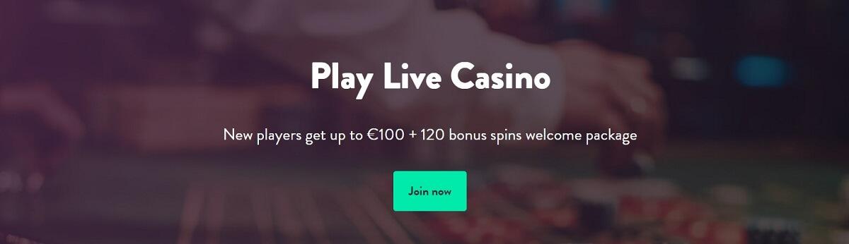 dunder live casino bonus