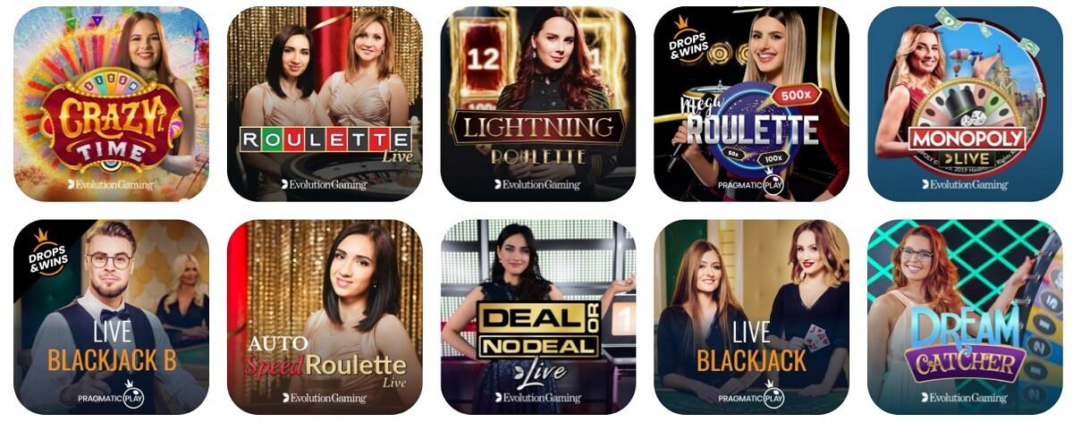 emojino live casino games