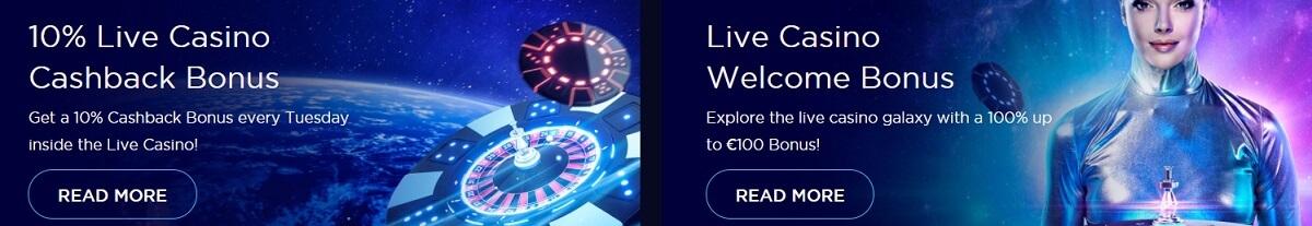 genesis live casino bonuses