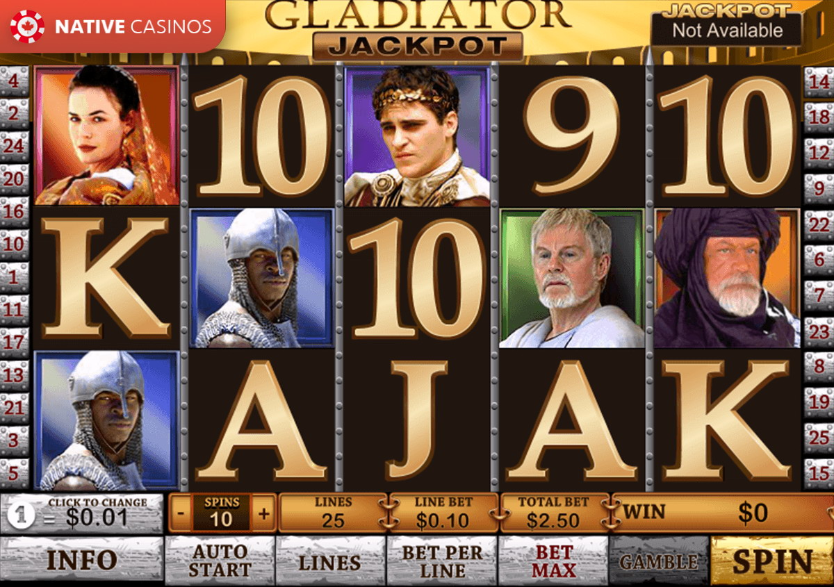 gladiator jackpot slot gameplay