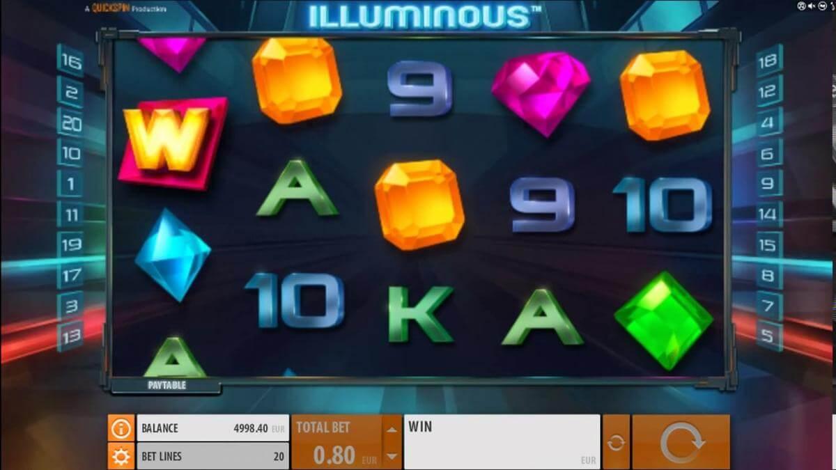illuminous slot gameplay