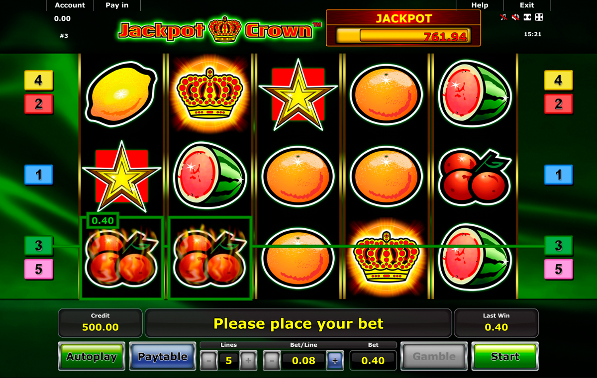 jackpot crown novomatic