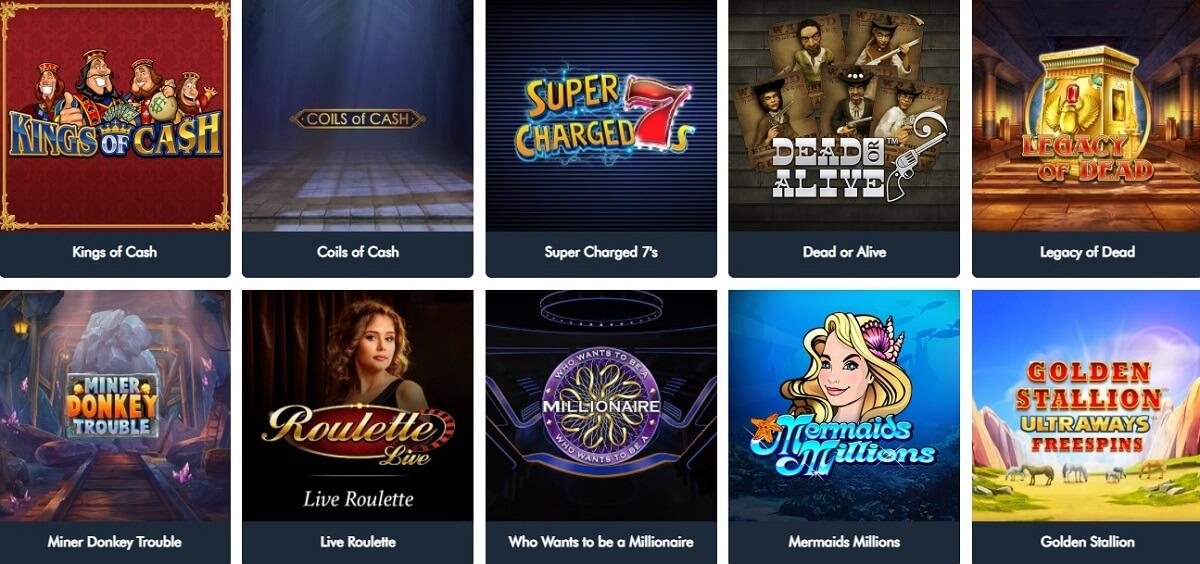 jonny jackpot casino games