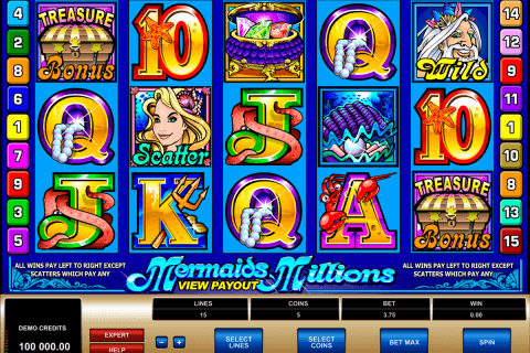 mermaids millions microgaming