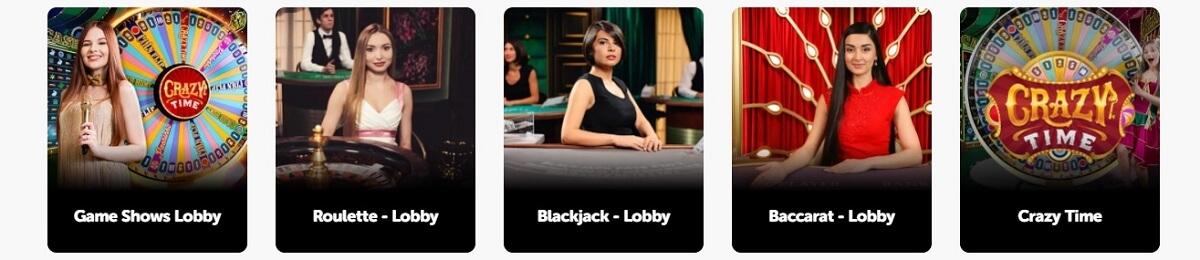 pocketplay live casino games