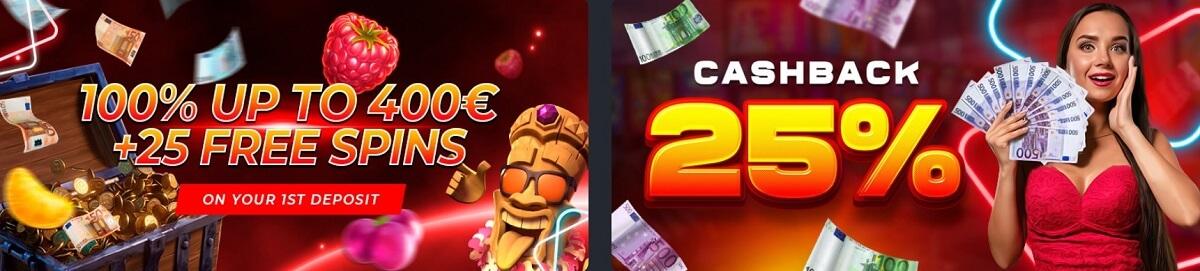 richprize casino welcome bonuses