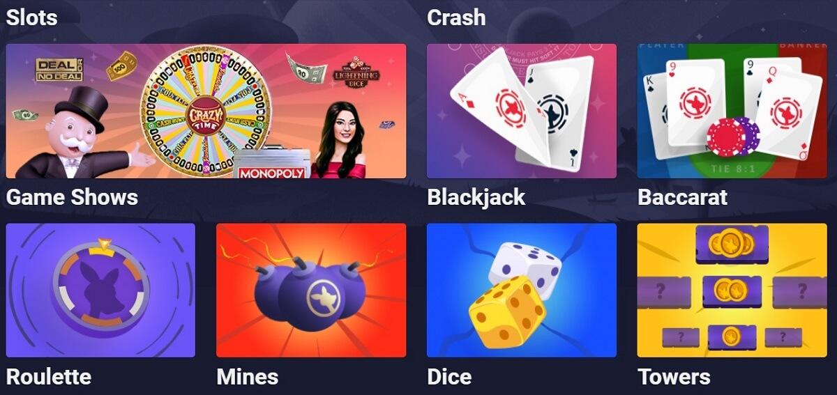 roobet casino games