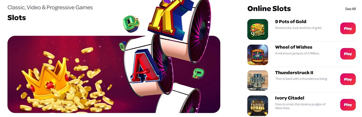 spin palace online slots