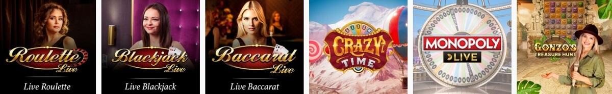 spinland live dealer games