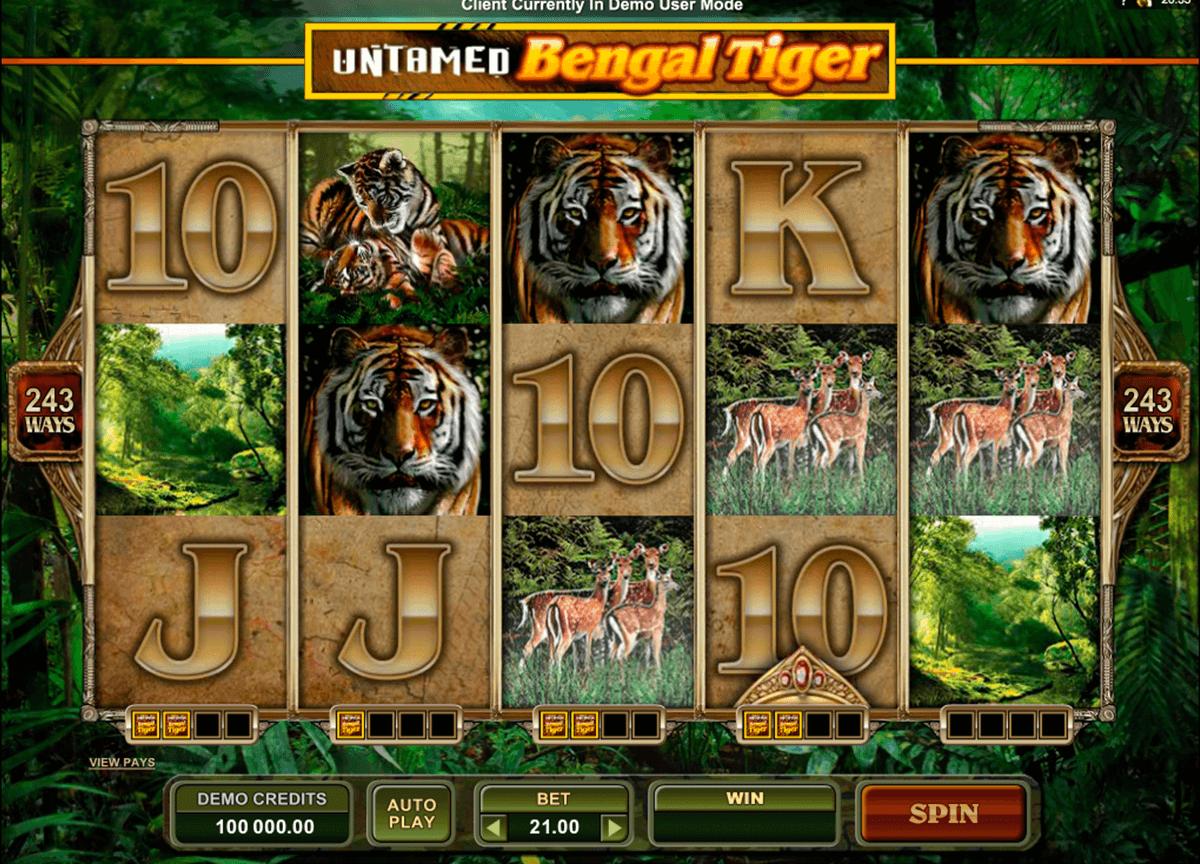 untamed bengal tiger microgaming
